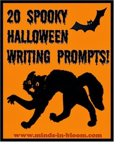 Get your students creatively writing with these 20 Halloween writing prompts! They'll explore all kinds of spooky topics with these prompts! 5th Grade Writing, Work On Writing, Writing Workshop, Creative Writing, Kids Writing, Creative Teaching, Writing Help, Writing Resources, Teaching Writing