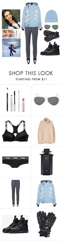 """""""Ski Lesson ⛷ (1)"""" by teodoramaria98 ❤ liked on Polyvore featuring Ray-Ban, MANGO, Victoria's Secret PINK, Gucci, Fendi, Perfect Moment, NIKE, Moncler Grenoble and Topshop"""