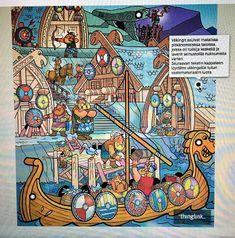 OpenIdeat: Viikingit (5.-6. luokka) Finland, Vikings, Comic Books, Comics, History, Cover, Art, The Vikings, Art Background