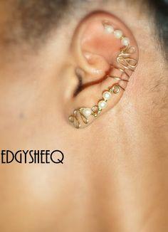 Pearl Ear cuff Pair
