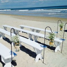Beautiful beach wedding in Surf City NC. Rentals provided by Shoreline Party Rentals.  http://www.shorelinepartysupplies.com/