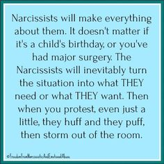 Narcissists demand attention. They need to be at the center of attention. And dare anyone else get that attention, the Narcissists must create drama to bring the spotlight back onto them. #narcissisticabuse