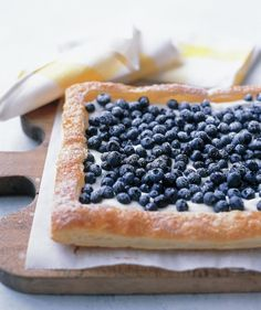 Blueberry Tart - Use frozen puff pastry to create an elegant dessert that boasts a lemon-infused cream cheese filling.