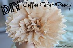So, last week I showed you the steps I used to create a DIY coffee filter rose. Today, there's one more flower I want to show you how to make: a big, fluffy peony! This tutorial is even easier than the rose, and you are able to customize it... #coffeefilter #coffeefiltercrafts #coffeefilterdecor