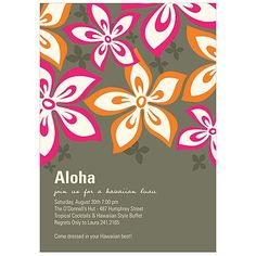 Summer Party Ideas: Colorful Invitations for Every Party! #partyideas #summer #peartreegreetings