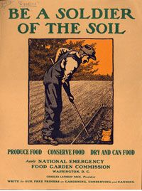 Be a Soldier of the Soil  --  WWI propaganda poster (USA), c. 1917.  Artist: Edward Penfield.