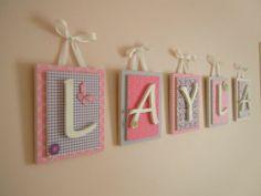 Wooden Nursery Letters