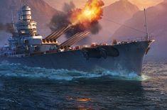 World Of Warships, Navy Coast Guard, Battleship, Homemade Weapons, Military Guns, Boats, Warriors
