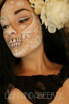 Lace Sugarskull... Two of my face things