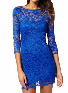 royal blue dress | ROYAL BLUE LACE DRESS JOHN ZACK SLASH NECK | eBay