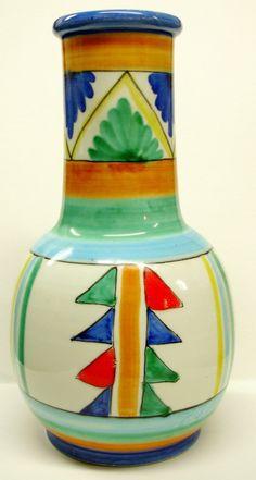 Italian Majolica Pottery Vase Hand Painted by Snowyowltreasures