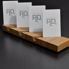 Multiple vertical business card holder - Long version - Bamboo