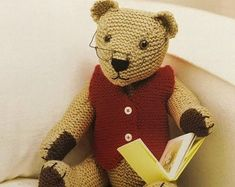 NHS Charity Knitting Pattern Bear Medic Doctor Nurse | Etsy Teddy Bear Knitting Pattern, Knitted Teddy Bear, Sweater Knitting Patterns, Baby Knitting, Crochet Patterns, Small Dog Coats, Knitting For Charity, Unicorn Crafts, Baby Doll Clothes