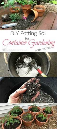 Indoor Vegetable Gardening It's easy to make your own potting soil for container gardening! This simple four-ingredient recipe is perfect for growing vegetables, herbs and flowers. Indoor Vegetable Gardening, Home Vegetable Garden, Tomato Garden, Organic Gardening Tips, Hydroponic Gardening, Garden Soil, Gardening Hacks, Flower Gardening, Herb Gardening