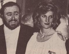 May 20, 1984: Princess Diana with Tenor, Luciano Pavarotti at Pavarotti Charity Gala in aid of the Opera House Development Appeal & Trust at the Royal Opera House, Covent Garden.