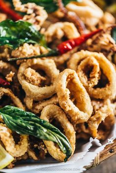 Salt and Pepper Squid | Calamari | Deep Fried | Asian | Chinese | Seafood | Appetizer | Restaurant Style | Basil | Recipe