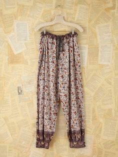 Free People Vintage Floral Cotton Pants