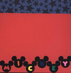 8x8 Premade Disney MICKEY Scrapbook Page by JensMemoryMakers on Etsy