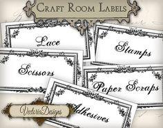 INSTANT DOWNLOAD Craft Room Organization Labels