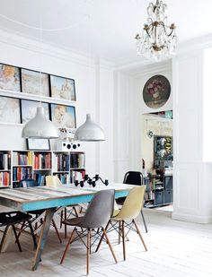 Ecletic scandinavian interior, ecletic living room