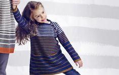 Rentoa ja mukavaa – neulo raidallinen tytön tunika - Kotiliesi.fi Shirt Dress, T Shirt, Children, Kids, Barn, Dresses With Sleeves, Knitting, Long Sleeve, Pattern