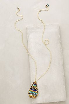 Striated Pendant Necklace