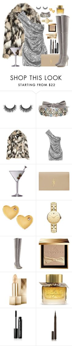 """""""Night out """" by mariapvl ❤ liked on Polyvore featuring Lanvin, H&M, Yves Saint Laurent, Improvements, Sydney Evan, Movado, Balmain and Burberry"""