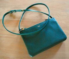 Celine Trio clutch, dark green