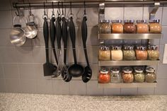 Measuring cups? Check. Utensils? Check. Spices? Check. All this backsplash needs for a fantastic dinner is some protein and a heat source. See more at My Life of Travels and Adventures »