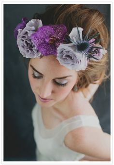 Boho floral headpieces | http://www.100layercake.com/blog/2012/03/09/boho-floral-headpieces/