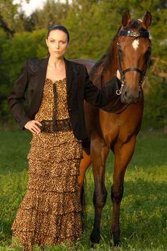 Marrika Nakk Bias Top & Princess Skirt - love the leopard print!
