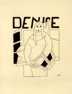 Denise. Cover. Artist: Juan Gris. Author: Raymond Radiguet. Publisher: Galerie Simon [D.-H. Kahnweiler]. Paris, 1926. Size: 24×19.5 cm
