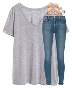 """""""my dog is so easily scared lol"""" by classynsouthern ❤ liked on Polyvore featuring H&M, Frame Denim, Kate Spade, Honora and Urban Decay"""