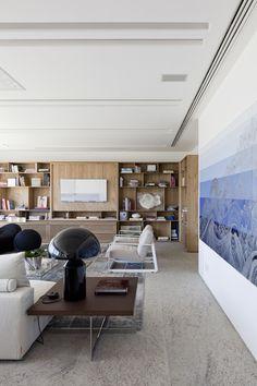 Residência Mirante : Salas de estar modernas por Gisele Taranto Arquitetura