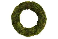 """Lay it flat, add pillar candles in the middle, amazing centerpiece for your fall table scape - 26"""" Mood Moss Wreath on OneKingsLane.com"""