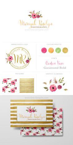 Logo for sale! http://one-giraphe.com/prev.php?c=169 #logo #flowers #watercolor…