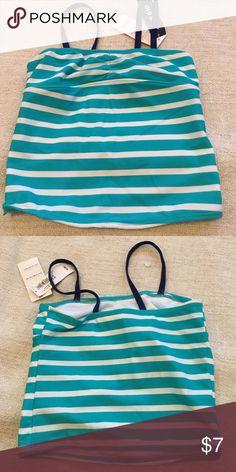Kids tankini top NWT blue stripe tankini top. With navy blue straps Swim