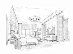 Rate:B&W Perspective A3 Price is 150-200USD 22handmade@gmail.com Drawing Interior, Interior Design Sketches, Interior Rendering, Sketch Design, Interior Architecture, Perspective Sketch, Point Perspective, Building Drawing, Principles Of Art