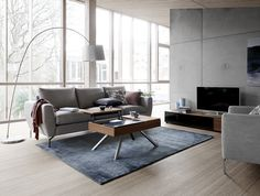 Frans Schrofer has designed the Nice Sofa, which here is beautifully placed with the Chiva coffee table and the Lugano Cabinet. What a fabulous living room!