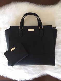 2 PCS Kate Spade Large Hadlee Laurel Way Satchel and Shawn Wallet Matching  Set  fashion a41962e9f459