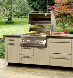 Outdoor cabinets by Danver outdoor kitchens can installed to existing patios in Virginia and decks in Maryland with ease as useful backyard upgrades.