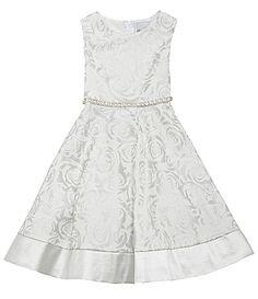 Rare Editions 2T6X FloralPrint Sateen Dress #Dillards