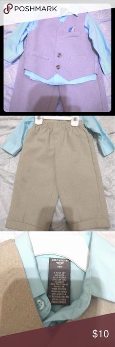 Dockers Baby Boy blue Suits Set Great condition, worn once. Very dressing up for a little boy to church or any occasions. Shipping will be fast Dockers Matching Sets