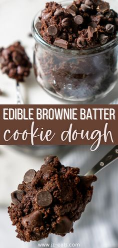 This Edible Brownie Batter Cookie Dough recipe is dangerously simple to make. If by some miracle you have leftover brownie batter, you even can place it in an airtight container for up to a week in the refrigerator. #ediblebrowniebattercookiedough #browniebatter #cookiedough Cookie Dough Recipes, Delicious Cookie Recipes, Best Dessert Recipes, Yummy Cookies, Sweet Desserts, Holiday Desserts, Easy Desserts, Edible Brownie Batter Recipe, Brownie Recipes