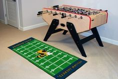 """Georgia Tech Runner 30""""x72"""" by Fanmats. $39.27. Georgia Tech Runner 30""""x72""""For all those football fans out there: football field-shaped area rugs by FANMATS. Made in U.S.A. 100% nylon carpet and non-skid recycled vinyl backing. Machine washable. Officially licensed. Chromojet printed in true team colors. Please note: These products are custom made. The normal lead time is about 7-10 business days. However, the putting mats and carpet tiles do take a little longer, about 1..."""