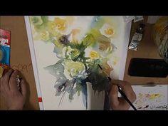 Aquarell Rosen in der Vase - YouTube Paint Flowers, Vase, Watercolor, Videos, Youtube, Painting, Watercolor Painting, Watercolor Rose, How To Paint Flowers