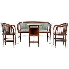 Art Nouveau Seating Group by Joseph Maria Olbrich, Vienna 1899-99