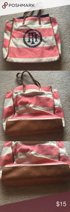 Pink navy Tommy Hilfiger shopper tote bag purse Pink navy Tommy Hilfiger shopper tote bag purse Tommy Hilfiger Bags Totes