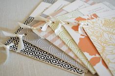 ribbon + paper {via oh so beautiful paper . via mint + hello tenfold}