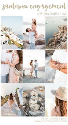 Light-filled Santorini Engagement with Destination Tips Engagement Couple, Engagement Shoots, Wedding Engagement, Best Wedding Colors, Wedding Color Schemes, Destination Wedding, Wedding Planning, Greece Wedding, Elopement Inspiration